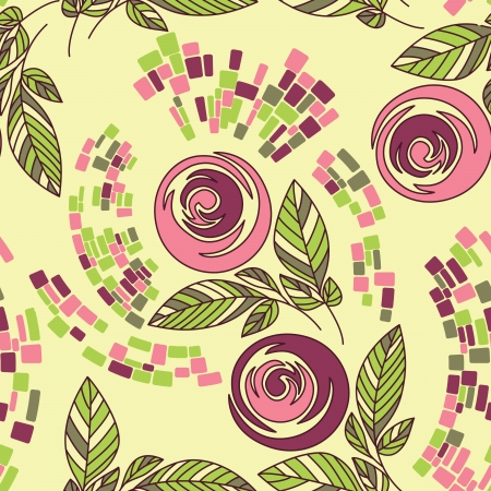 Beautiful seamless floral pattern Vector