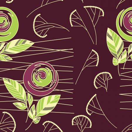 seamless vintage rose pattern background Stock Vector - 17446960