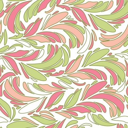 Seamless abstract pattern with bright feather
