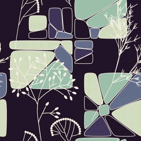 floral retro seamless pattern