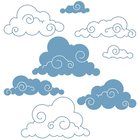 collection of vector clouds Vector