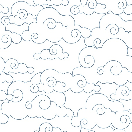 textures: Seamless stylized clouds pattern