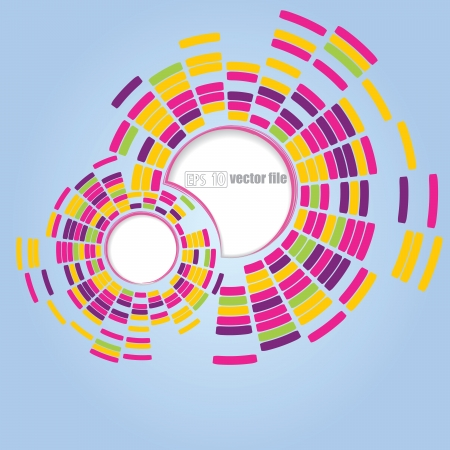 Abstract technology circles vector background Stock Vector - 17652421