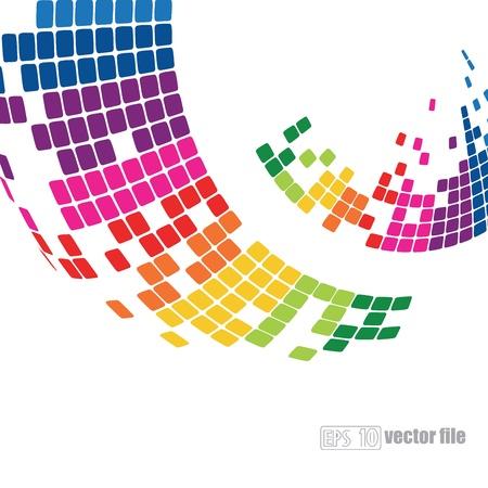 colori: astratto pixelated sfondo colorato Vettoriali