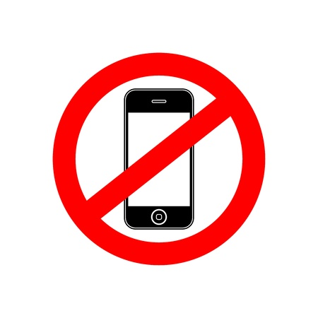 do not: No phone vector sign