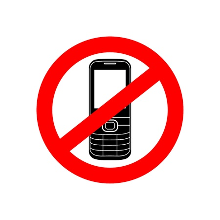 cell phones not allowed: No phone vector sign