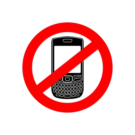 no cell: No hay se�ales de tel�fono vector