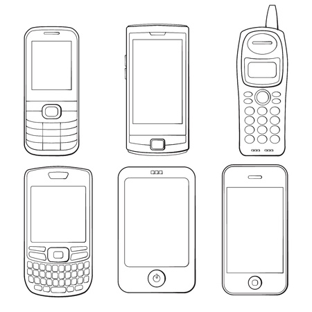 Mobile phones silhouettes set Stock Vector - 17772459