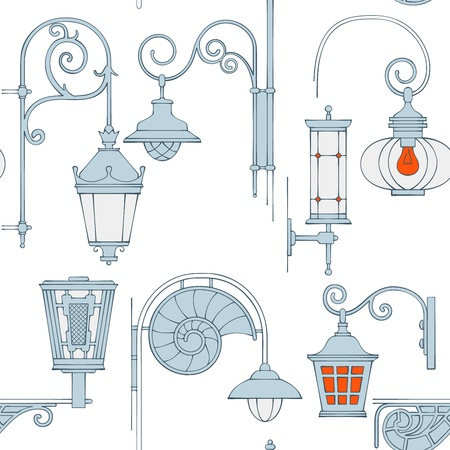 Street lantern seamless pattern Stock Photo - 17772494