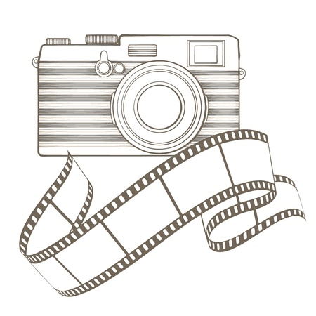 Retro photo camera with vignette Stock Vector - 17772498