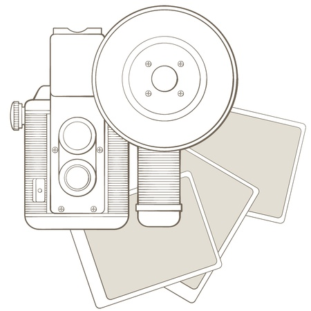 Vintage photo camera with vignette Stock Vector - 17772497