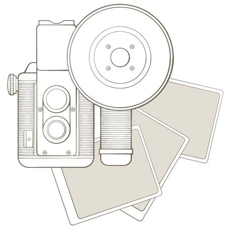 viewfinder vintage: Vintage photo camera with vignette