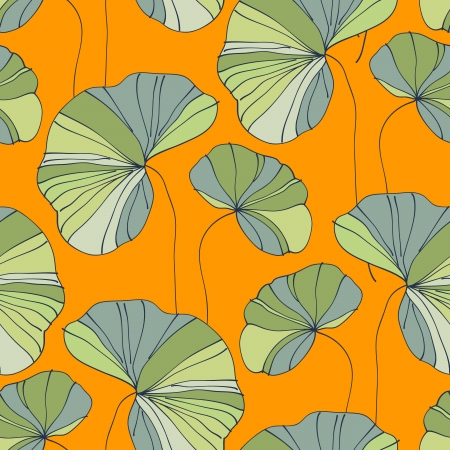 waterlily seamless flower tropical pattern vector illustration Фото со стока - 17772503