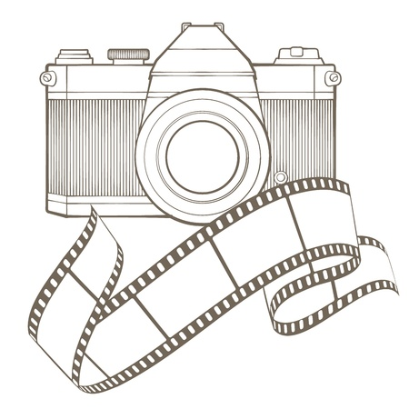 Retro photo camera with vignette Stock Vector - 17772506