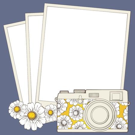 negatives: Vintage photo camera with vignette