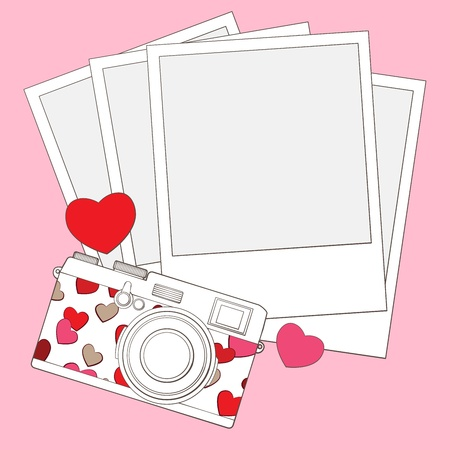 love photo camera background Stock Vector - 17772507