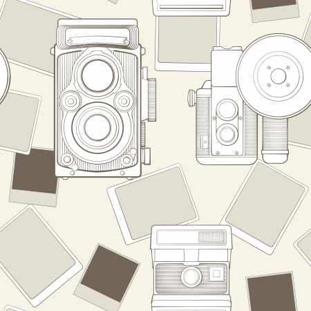 vintage seamless pattern with camera Stock Vector - 17772513