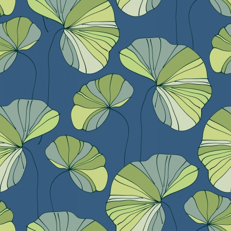 water lily: waterlily seamless flower tropical pattern