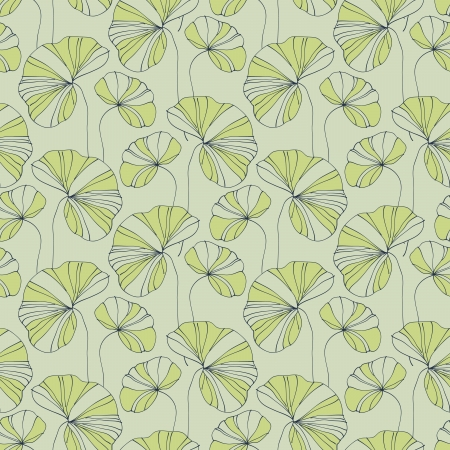 aquatic plant: waterlily seamless flower tropical pattern