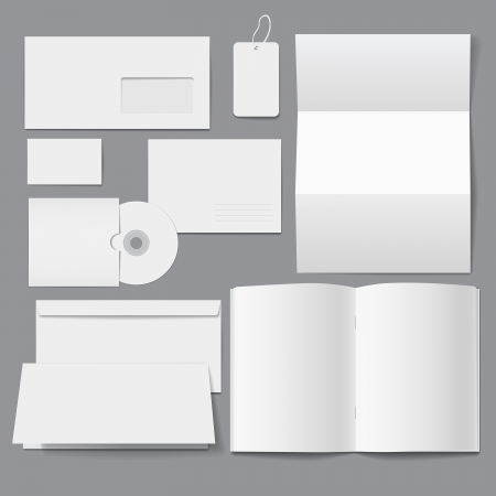 Blank Business Corporate Templates Illustration