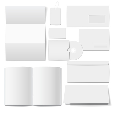 Corporate  identity Templates  Selected blank Vector