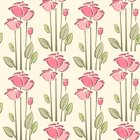 Seamless floral pattern with roses