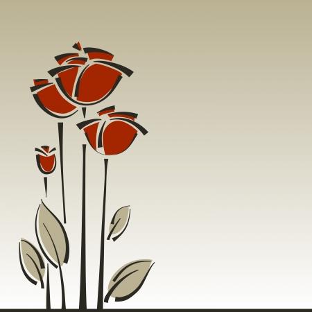 rozen bloemen stijlvolle achtergrond