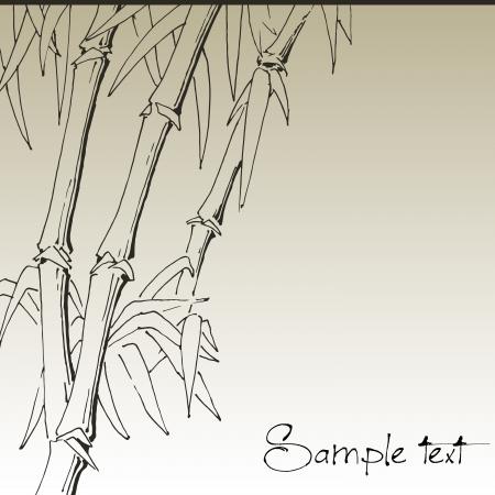 zen garden: Branch of bamboo, background for design Illustration