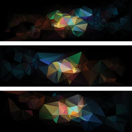 driehoekige stijl abstracte achtergrond van driehoeken Stock Illustratie