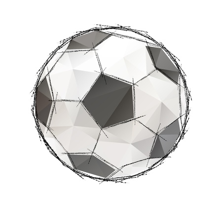 pumped:  Football, soccer game ball isolated on a white background Stock Photo