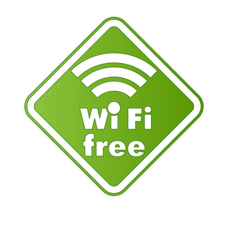 boardcast: Free wifi and Internet sign with square border