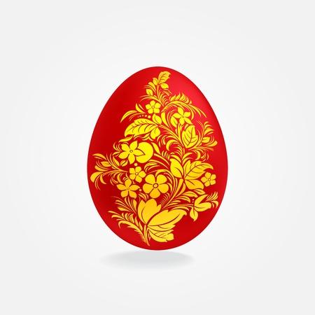 gzhel: Easter eggs design template