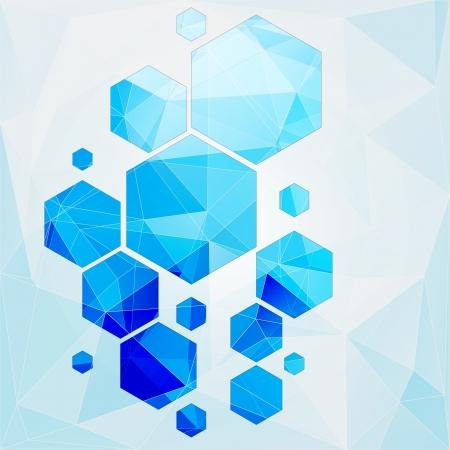 microwave antenna: la tecnolog�a de c�lulas poligonales fondo abstracto