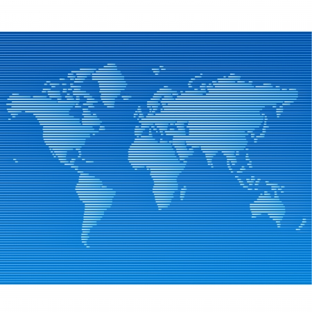 striped line world map template