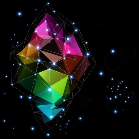 ruimtetechnologieën driehoek abstract ontwerp