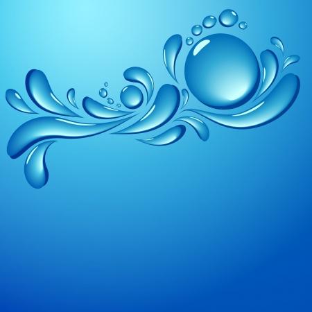 water splash wave vector background Vector