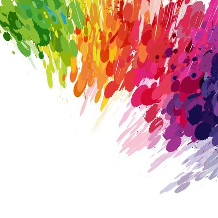 Abstracte achtergrond van gekleurde spatten vlekken