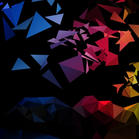 triangular style abstract background of triangles Stock Vector - 18880342