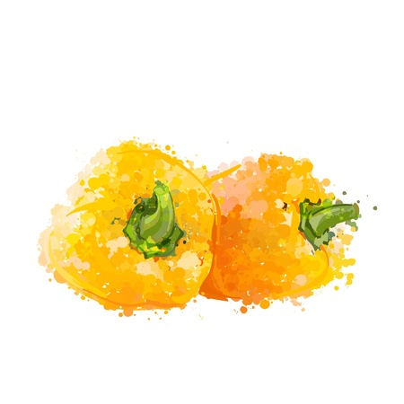 Yellow sweet peppers of blots