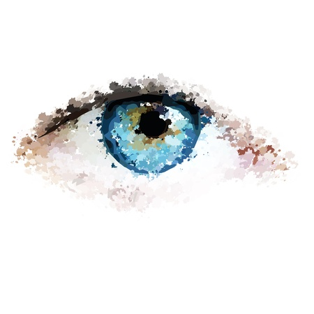 healthy eyes clean looking vector illustration Vector