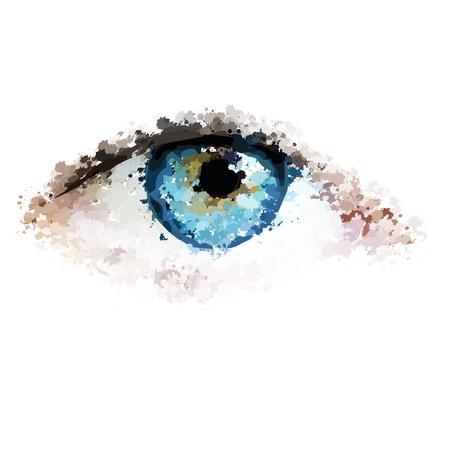 healthy eyes clean looking vector illustration Illustration