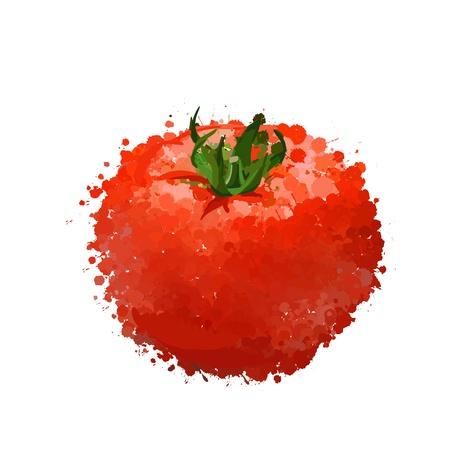 rode tomaat illustratie van blots Stock Illustratie