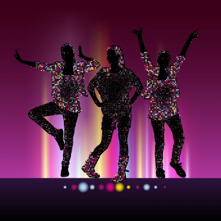 Go-Go night party background Vector