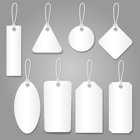 price: blank labels style set isolated