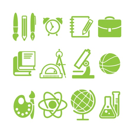 education school symbol collection Vector