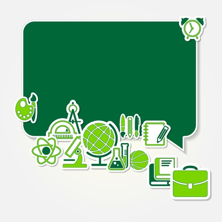 back to school and school icon set Stock Vector - 21076687