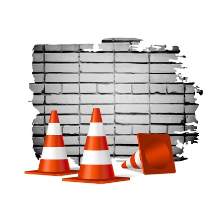 Under construction concept vector background Stock Vector - 21747384