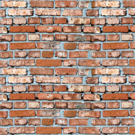 brickwall: ladrillo rojo de fondo vector de pared Vectores
