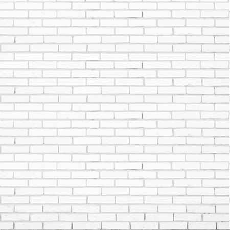 witte bakstenen muur, vector, textuur