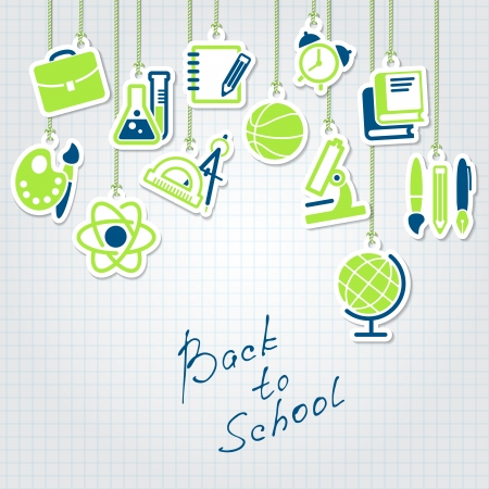 back to school and school icon set